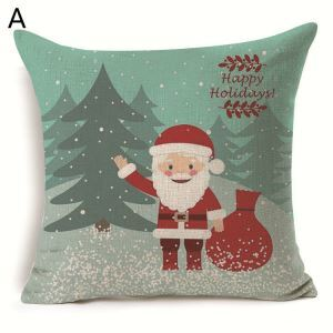 Santa Claus Christmas Gift Christmas Theme Pillowcase 6 Options