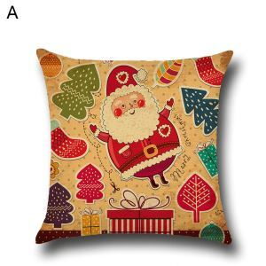 Santa Claus Snowman Christmas Theme Pillowcase 4 Options
