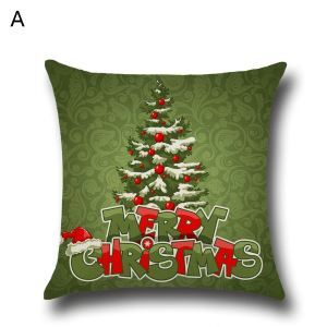 Santa Claus Christmas Tree Christmas Theme Pillowcase 4 Options