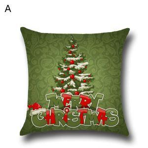 Santa Claus Christmas Tree Christmas Theme Pillowcase 4 Options