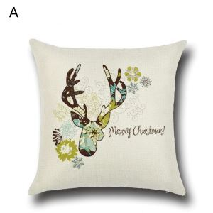 Christmas Deer Christmas Theme Pillowcase 4 Options