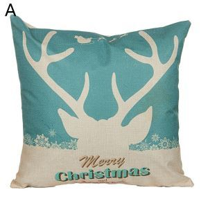 Antler Christmas Theme Pillowcase 5 Options