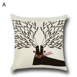 Antler Christmas Theme Pillowcase 6 Options