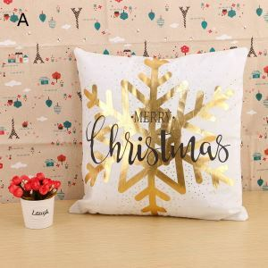 Christmas Theme Pillow Christmas Snowflower Christmas Pillowcase 4 Options
