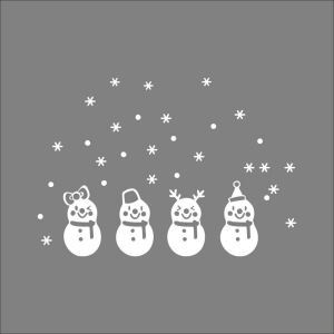 Christmas Theme Cute Snowman Bedroom Living Room Hallway Children Room PVC Wall Stickers