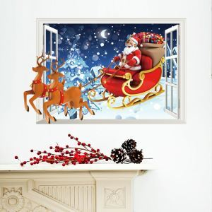 Christmas Theme  Bedroom Living Room Hallway Children Room PVC Wall Stickers