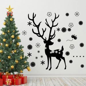 Christmas Elk  Bedroom Living Room Hallway Children Room PVC Wall Stickers