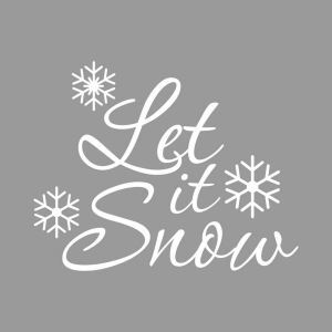 Let it Snow Bedroom Living Room Hallway Children Room PVC Wall Sticker