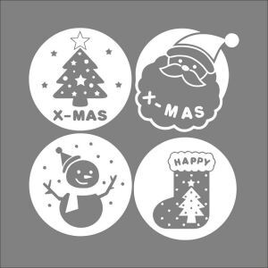 Christmas Theme X-MAS Bedroom Living Room Hallway Children Room PVC Wall Stickers