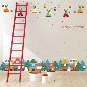 Christmas Theme European House Snowman Bedroom Living Room Hallway Children Room PVC Wall Stickers