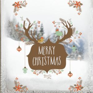 Christmas Theme Wall Stickers Merry Christmas  Bedroom Living Room Hallway Children Room PVC Wall Stickers
