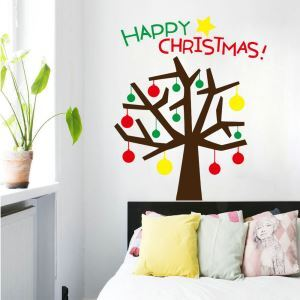 Christmas Theme Happy Christmas Bedroom Living Room Hallway Children Room PVC Wall Stickers