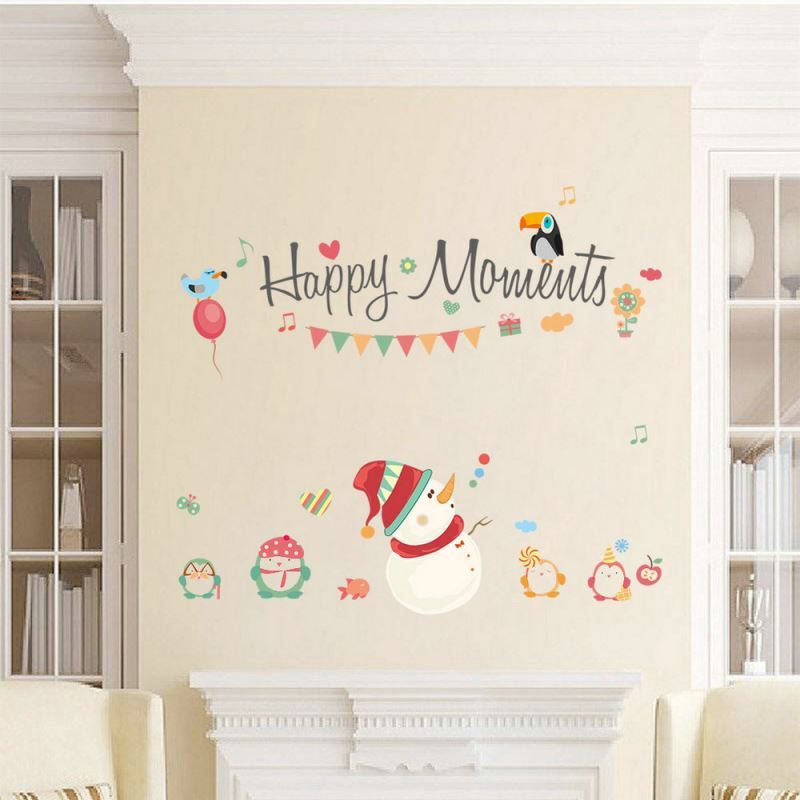 Christmas Theme Bedroom Living Room Hallway Children Room PVC Wall - Wall decals hallway