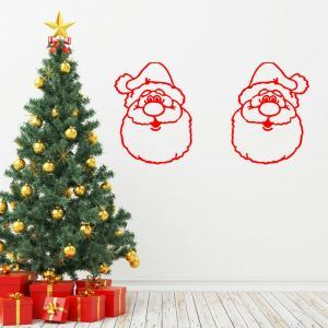 Christmas Theme Wall Stickers Santa Claus Bedroom Living Room Hallway Children Room PVC Wall Stickers
