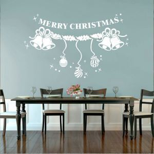 Christmas Wall Sticker Merry Christmas Bedroom Living Room Hallway Children Room PVC Wall Sticker