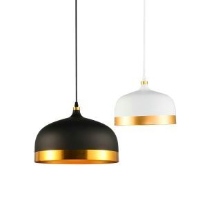 Nordic Simple Pendant Light Creative Dining Room Study Room Bedroom light Single Light Black and White