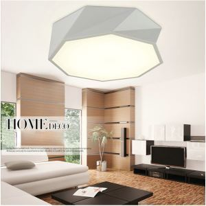 Modern Simple Style Living Room Dining Room Bedroom Geometric Shape LED Flush Mount Black and White
