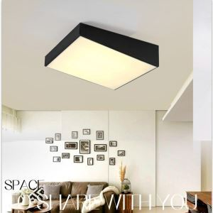 Modern Simple Style Living Room Dining Room Bedroom Slope Design LED Flush Mount Black and White