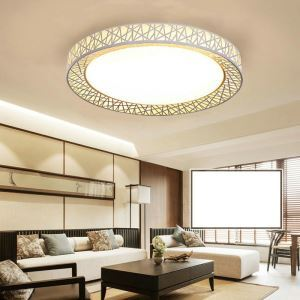 Modern Simple Style Living Room Dining Room Bedroom Round Nest LED Flush Mount