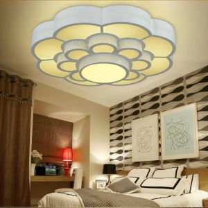 Modern Simple Style Living Room Dining Room Bedroom Plum Blossom LED Flush Mount
