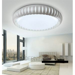 Modern Simple Style Living Room Dining Room Bedroom Lantern LED Flush Mount Black and White