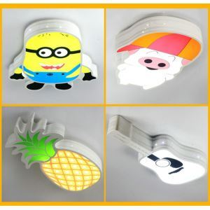 Modern Simple Style Living Room Dining Room Bedroom Cartoon LED Flush Mount 4 Option