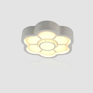 Modern Simple Style Living Room Dining Room Bedroom Flower LED Flush Mount