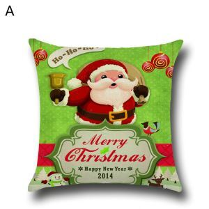 Santa Claus Christmas Deer Christmas Theme Pillowcase 5 Options