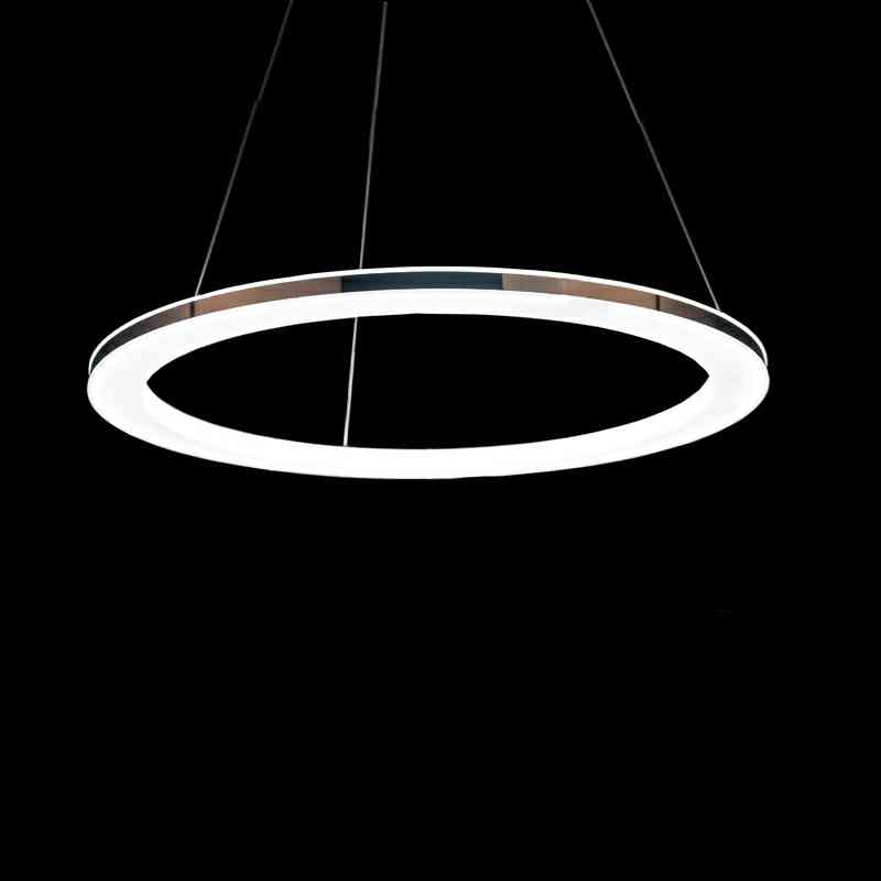 uk stock modern simple acrylic led circle pendant light. Black Bedroom Furniture Sets. Home Design Ideas