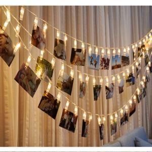Creative Photo Clip Decorative Festival Art LED Light String 10 Lights