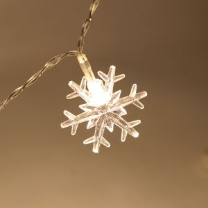 Christmas Snowflake Light Waterproof Battery LED String Lights