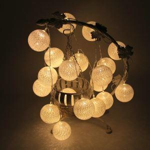Cotton Ball Decorative Lights Battery LED String Light