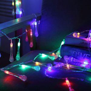 Water Droplets Modeling Battery LED String Lights