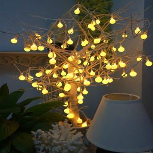 Small Round Ball Colorful Lights Full of Stars Light Battery LED String Light