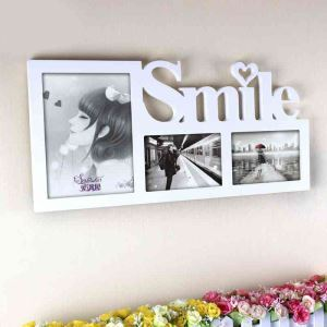 Nordic Simple White Creative Wall Mount Home Decoration Wood Photo Frame
