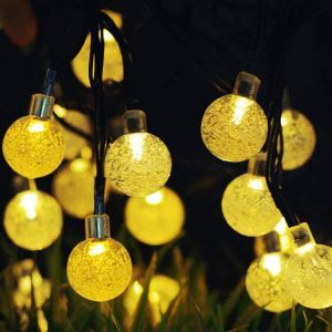 Bubble Ball Outdoor Waterproof Solar LED String Lights