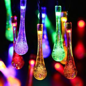 Bubble Water Droplets Modeling Outdoor Waterproof Solar LED String Lights