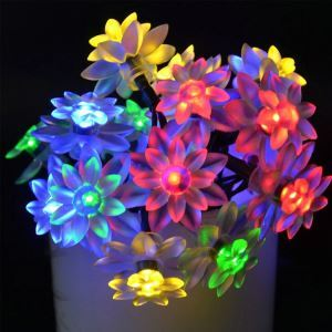 Lotus Modeling Outdoor Waterproof Solar LED String Lights
