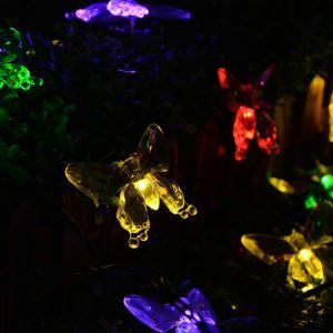 Butterfly Outdoor Waterproof Solar LED String Lights