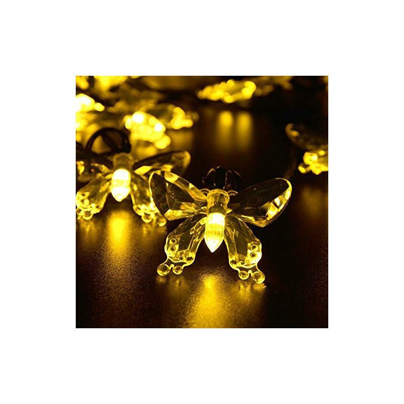 Solar Patio String Lights Walmart: Butterfly Outdoor Waterproof Solar LED String Lights