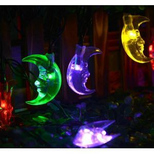 Moon Outdoor Waterproof Solar LED String Lights