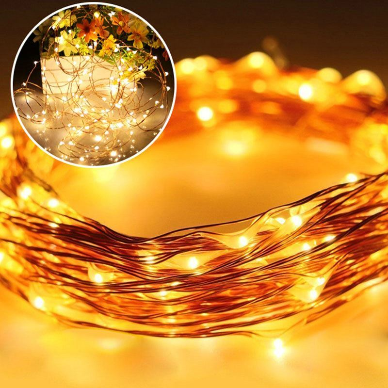 Tube Copper Wire Outdoor Waterproof Solar LED String Lights