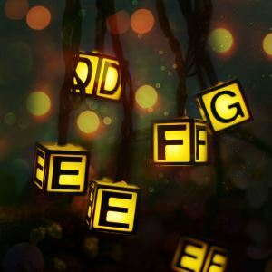 English Letter Outdoor Waterproof Solar LED String Lights