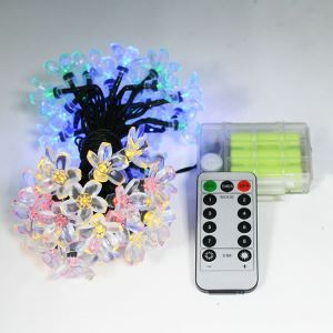 Remote Control 3AA Battery Box Peach Blossom String LED String Light