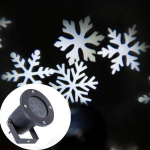 Outdoor Waterproof LED Christmas Snowflake Projection Light