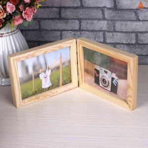 Modern Simple Foldable Design Home Decor Solid Wood Photo Frame