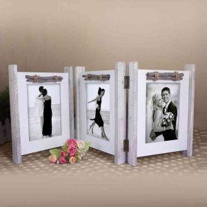 Retro Antique Foldable Design Home Decor Solid Wood Photo Frame