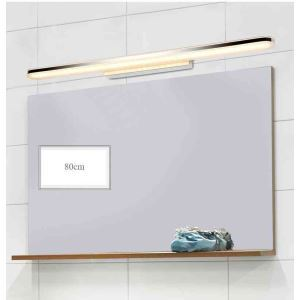 Makeup Light Modern LED Bathroom Mirror Wall Light with Acrylic Shade Chrome Finish