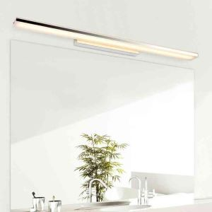 Modern Contemporary Chrome Finish 8W LED Mirror Wall Light with Acrylic Shade