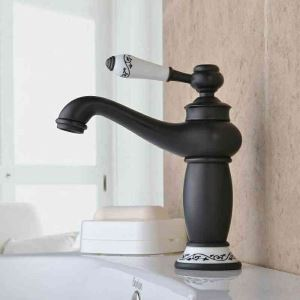 (EU Stock)Antique Oil-rubbed Bronze Black Single Handle Sink Faucet